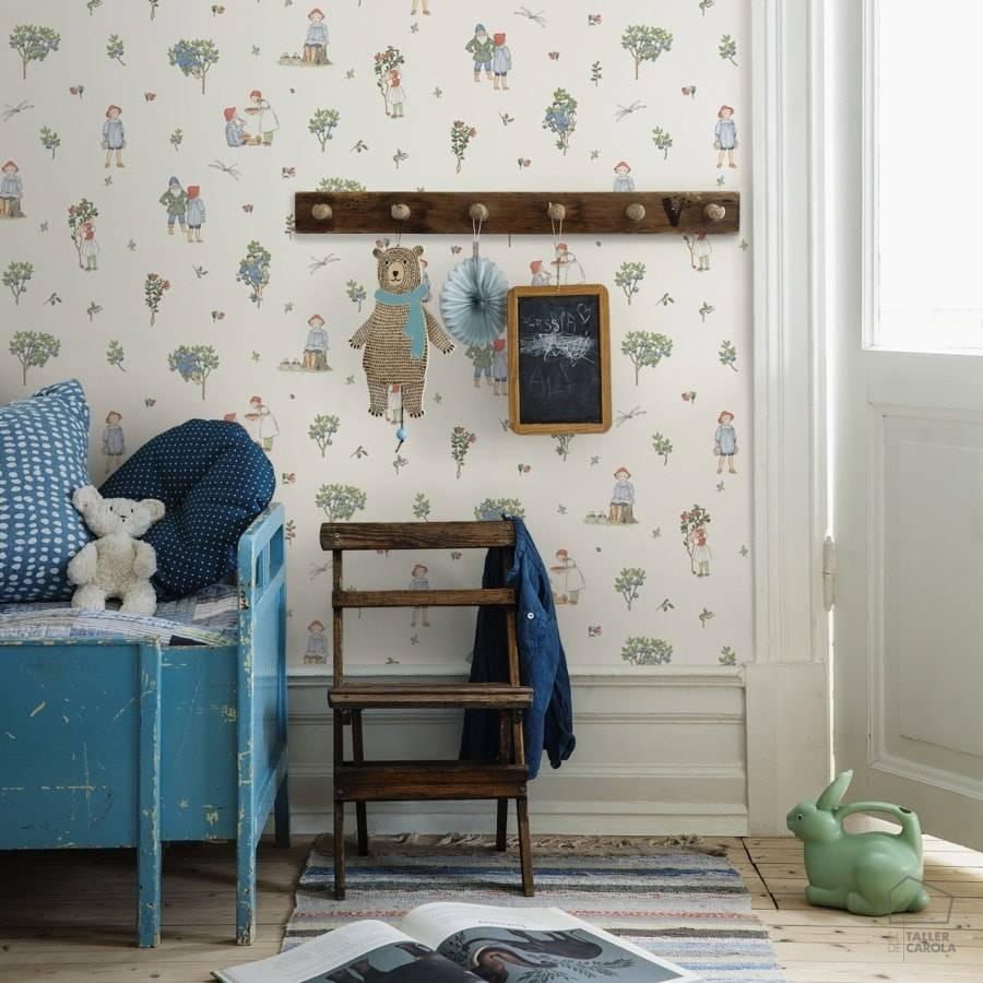 Papeles pintados infantiles de estilo nórdico