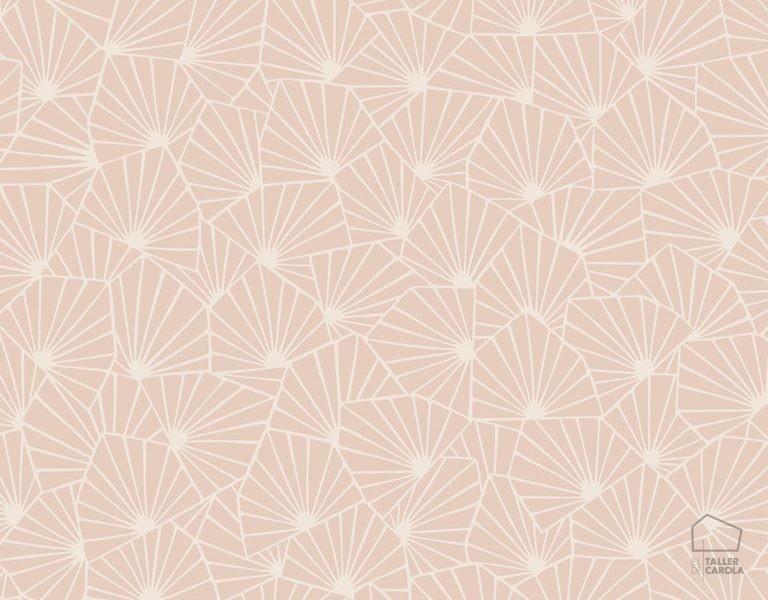 079stj1463 Papel Pintado Geométrico Rosa