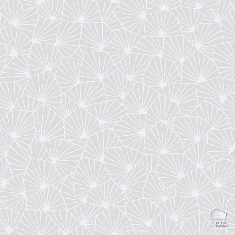 079stj1464 Papel Pintado Geométrico Gris