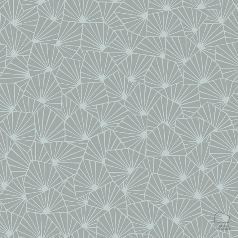 079stj1465 Papel Pintado Geométrico Gris Oscuro