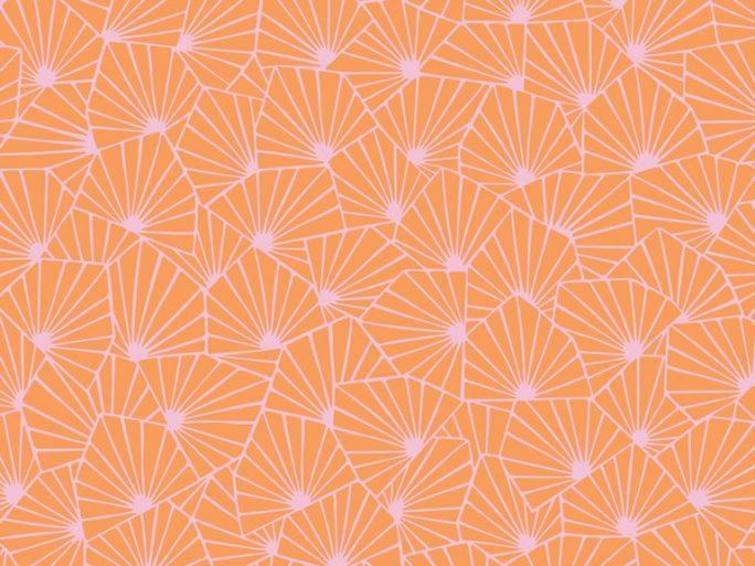 papel pintado geometrico nordico naranja y rosa 079stj1468