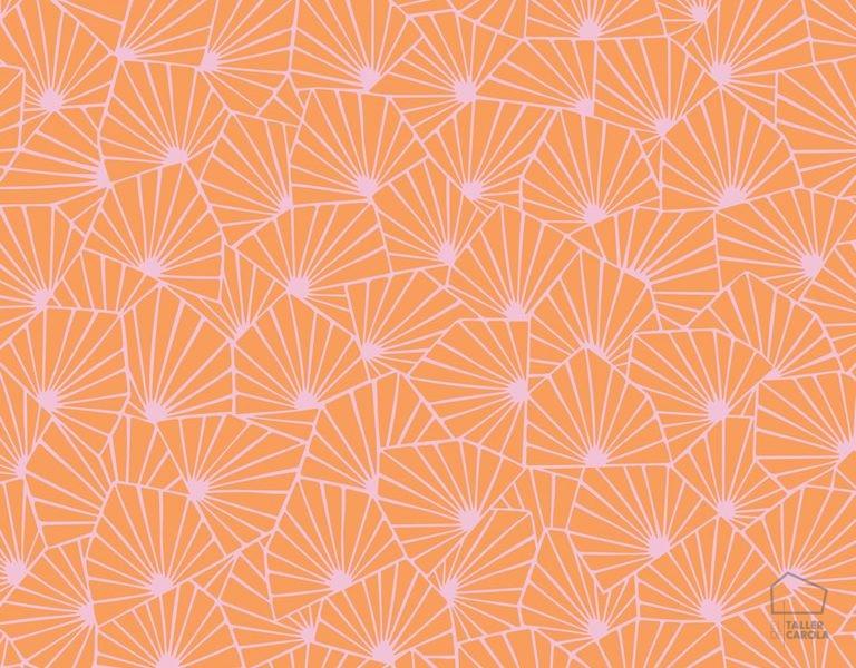 079stj1468 Papel Pintado Geométrico Naranja