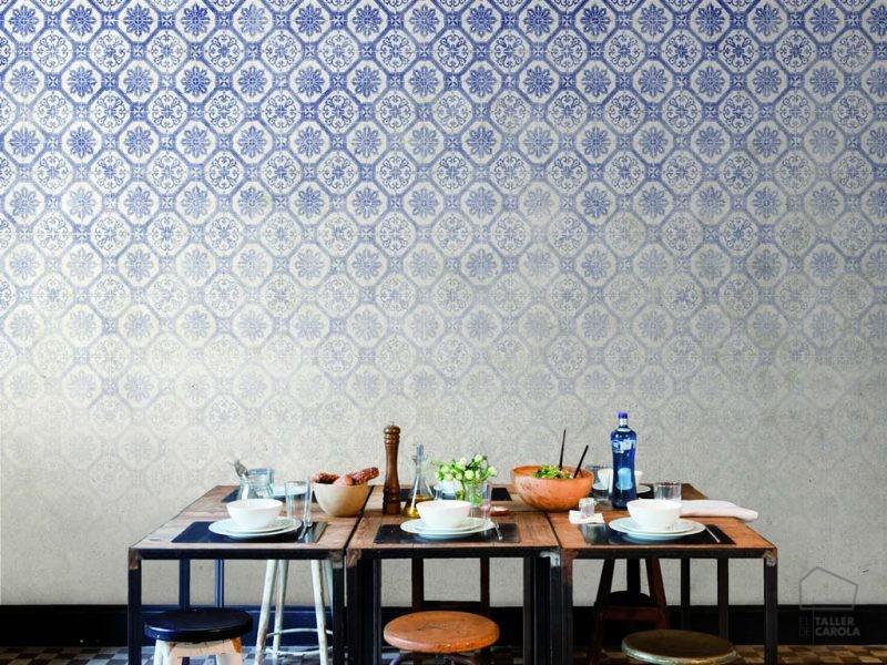 080jou1022_1 Mural Azulejo Azul
