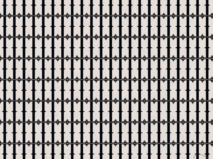 Papel Pintado BLA Geométrico Negro
