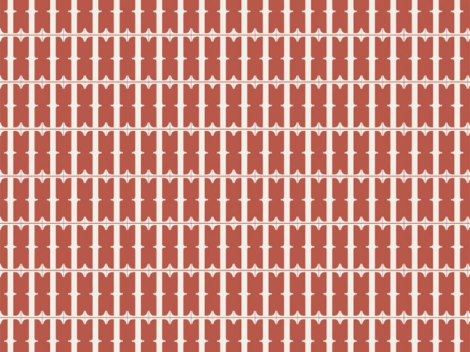 Papel Pintado BLA Geométrico Rojo