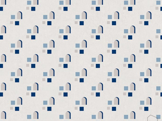 Papel Pintado FAR Ventanas Azul
