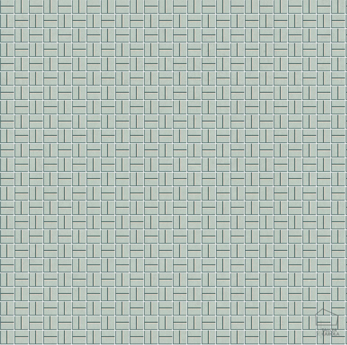 Papel Pintado LLO Mosaico Verde