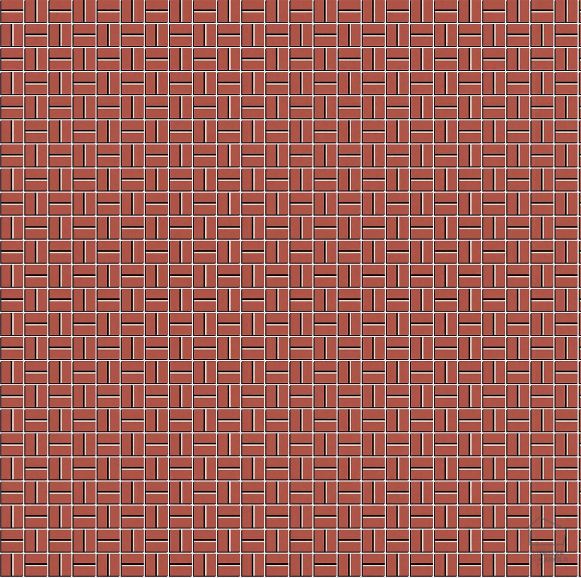 Papel Pintado LLO Mosaico Rojo