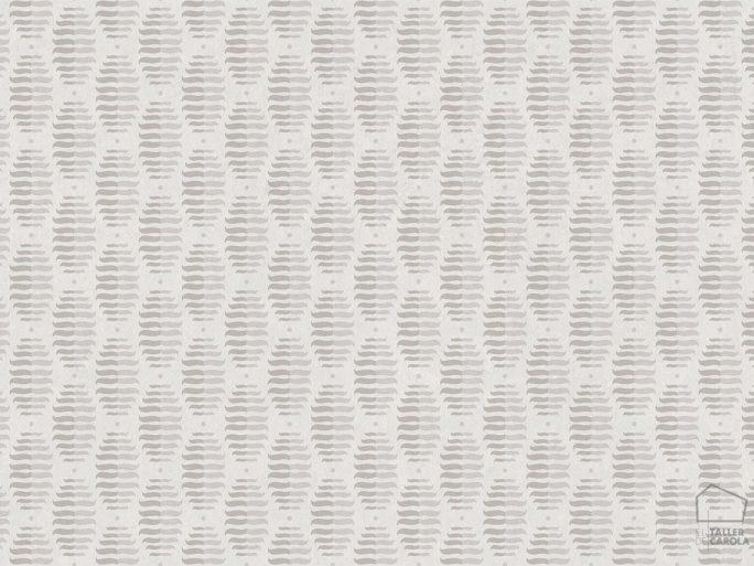 Papel Pintado PIN Geométrico Gris