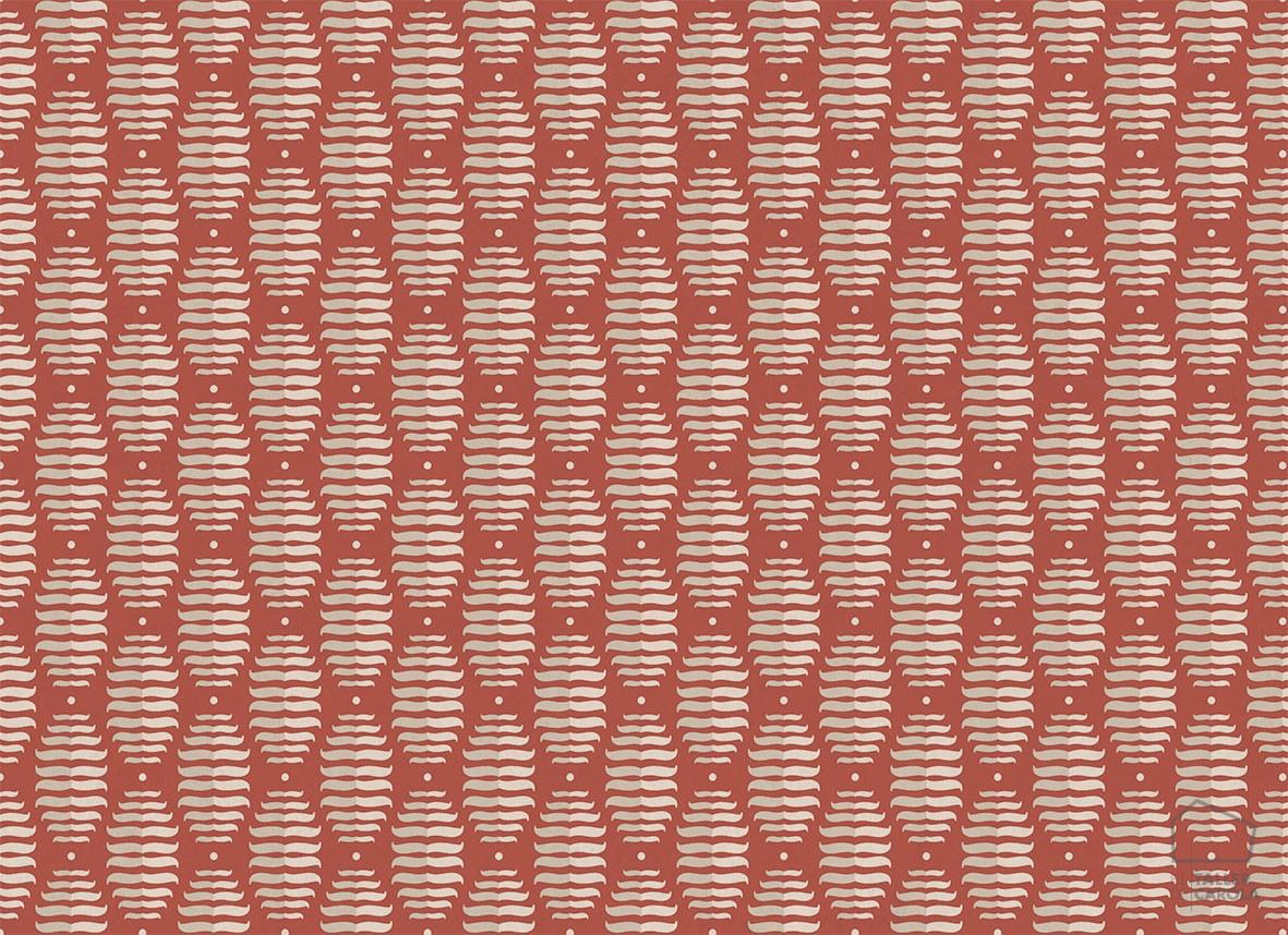 Papel Pintado PIN Geométrico Rojo