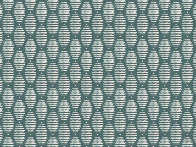 Papel Pintado PIN Geométrico Verde