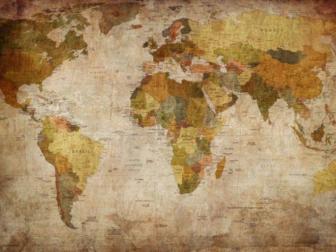 Mural Mapa Mundi Antiguo Tierras 080mapr10771