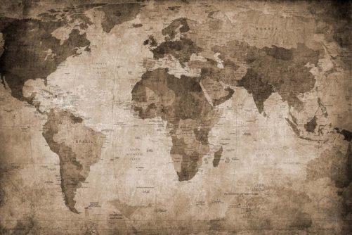 080mapr10772 Papel Pintado Mural Mapas