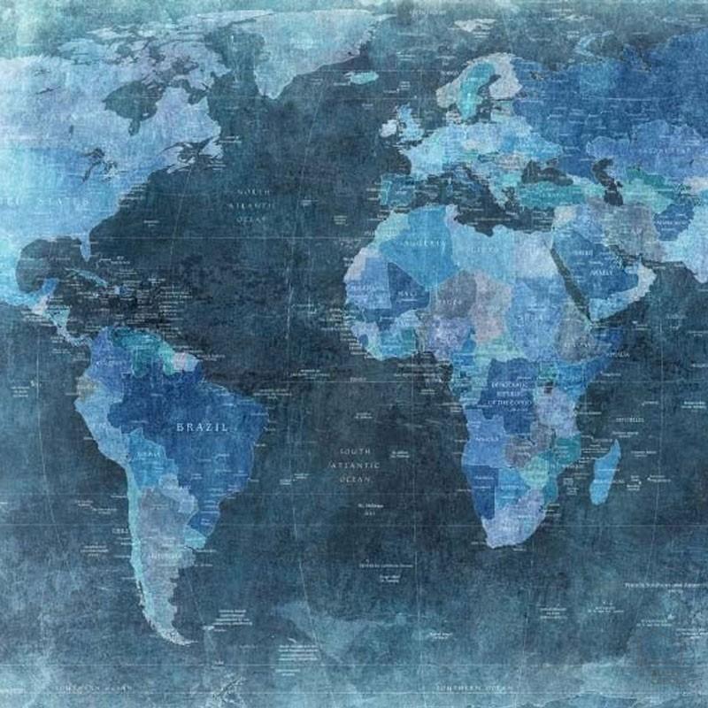 mapamundi azul