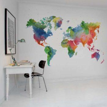 080mapr13431 Papel Pintado Mural Mapas