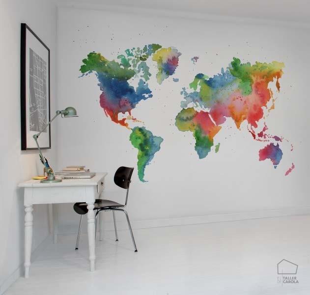 080mapr13431 papel pintado mural mapas el taller de carola - Papel pintado mapa ...