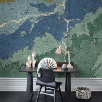 080mapr13751 Papel Pintado Mural Mapa