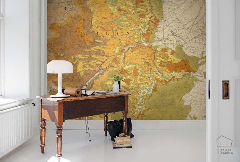 080mapr13761 papel pintado mural mapas el taller de carola for Papel pintado mural