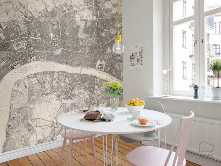080mapr13781 Papel Pintado Mural Mapas