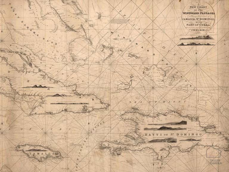 080mapr13791 Papel Pintado Mural Mapa Antiguo Navegación