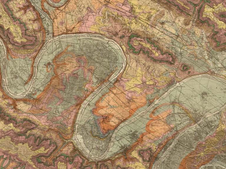 Mural mapa antiguo par s estilo vintage para tus paredes - Papel pintado mapa ...