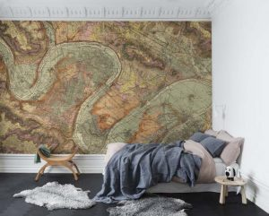 080mapr13801 Papel Pintado Mural Mapa Antiguo