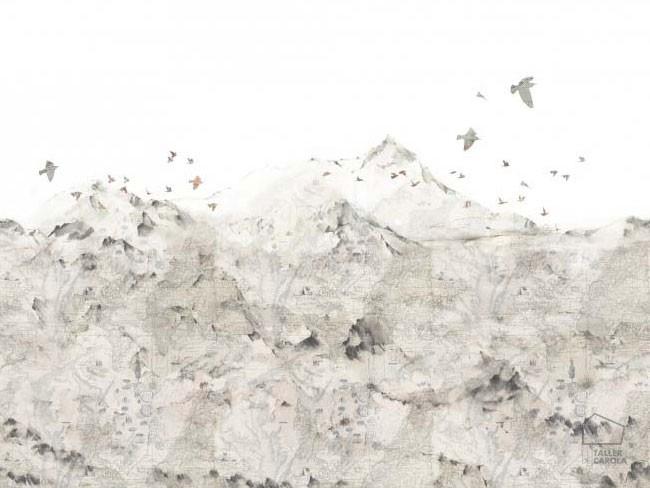 Mural Montañas y Pájaros 080mapr13871