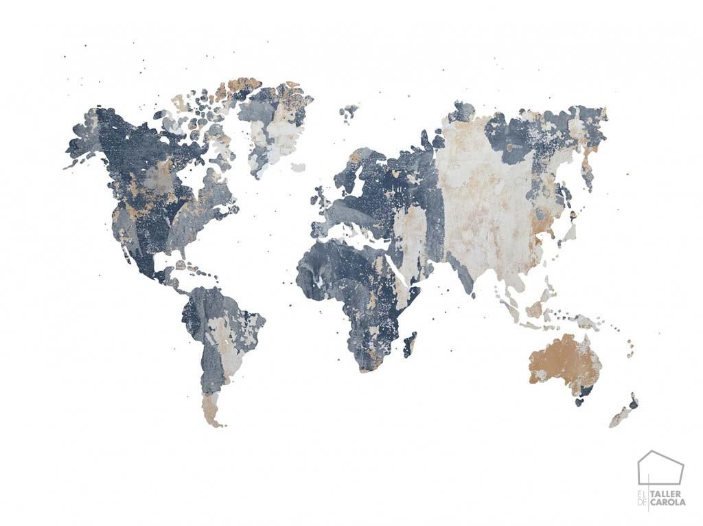 080mapr13924 papel pintado mural mapa antiguo desgastado - Papel pintado mapa ...