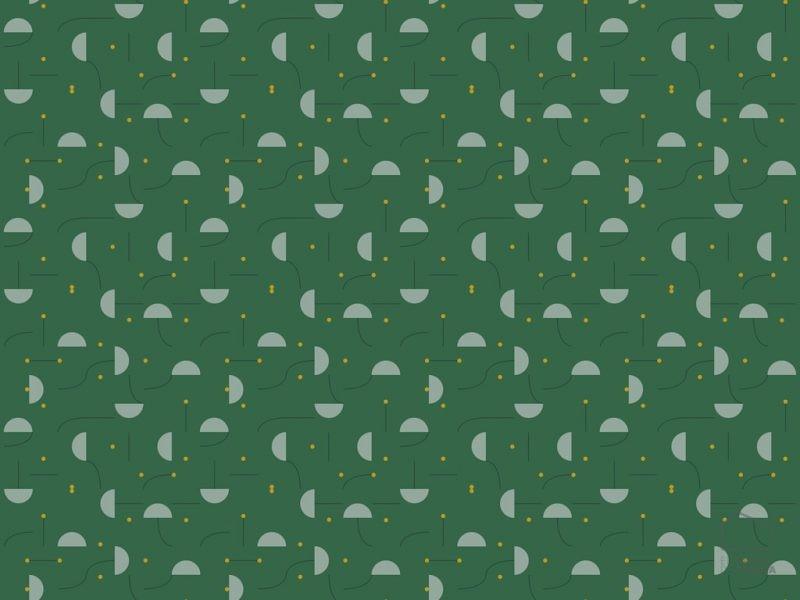 0819237hay Papel Pintado Geométrico Figuras Verde