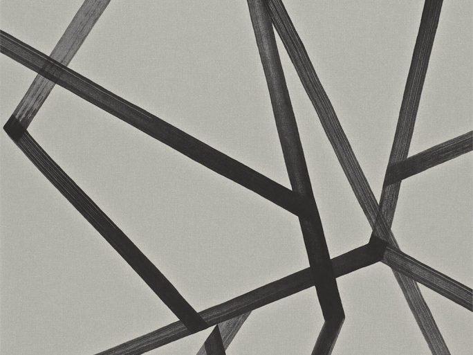 Papel Pintado MOM Geométrico Pincelada Negro 083110886mom