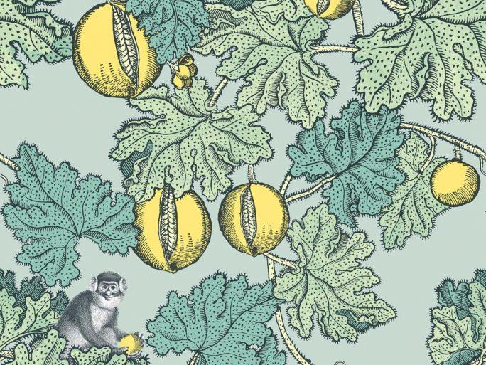 Papel Pintado Monos Verde