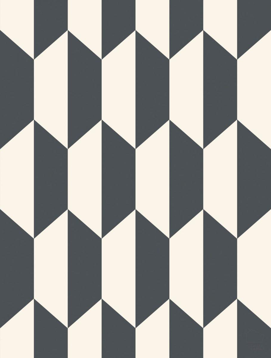 Papel Pintado PET Geométrico Negro