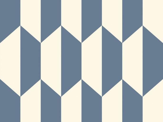 Papel Pintado PET Geométrico Azul