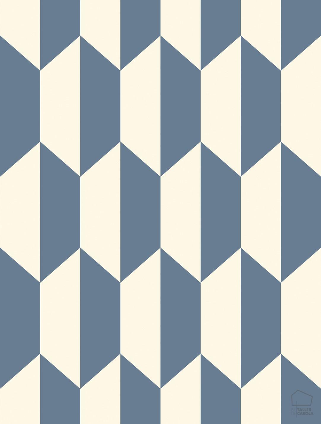 Papel Pintado PET GEO Geométrico Azul