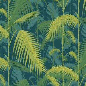 Papel Pintado Palmeras Verde 02
