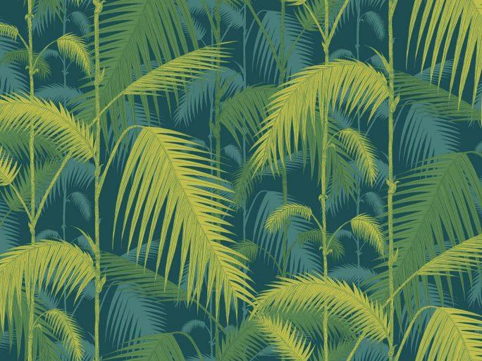 083icojun112_1002 Papel Pintado Vegetal Selva Palmera Verde