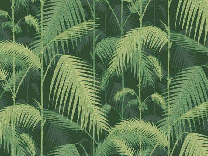 083icojun112_1003 Papel Pintado Vegetal Selva Palmera Verde