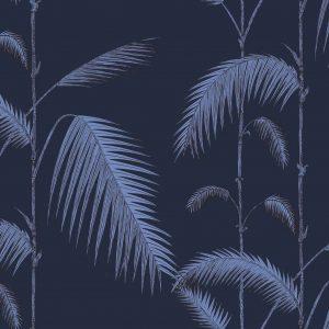 Papel Pintado Palmeras Azul
