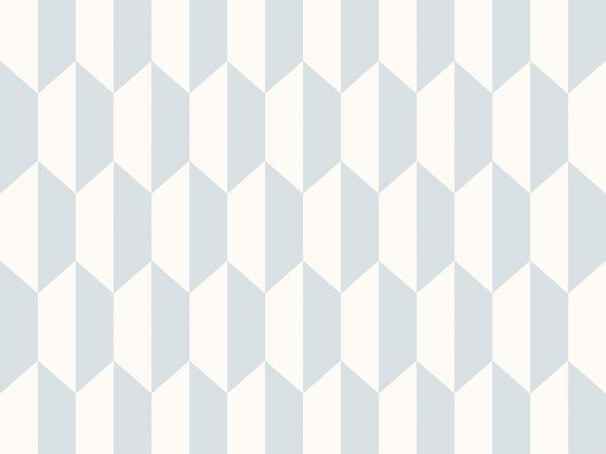 Papel Pintado PET Geométrico Azul Claro