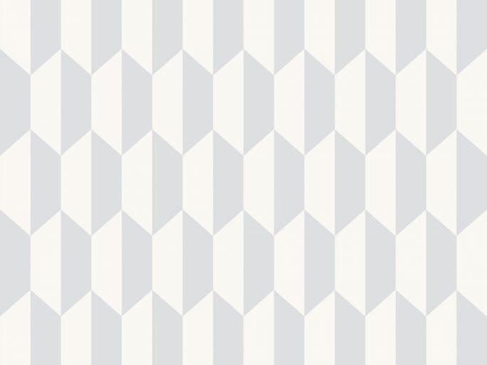 Papel Pintado PET Geométrico Gris