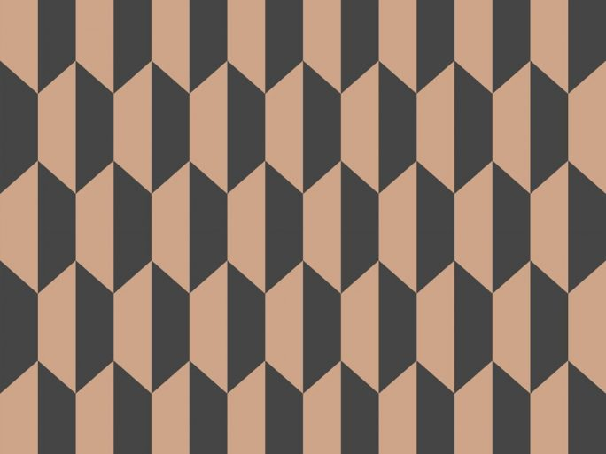 Papel Pintado PET Geométrico Cobre