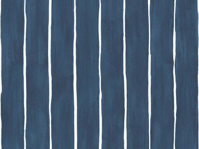 083marstr110_2007 Papel Pintado Rayas Mano Alzada Azul