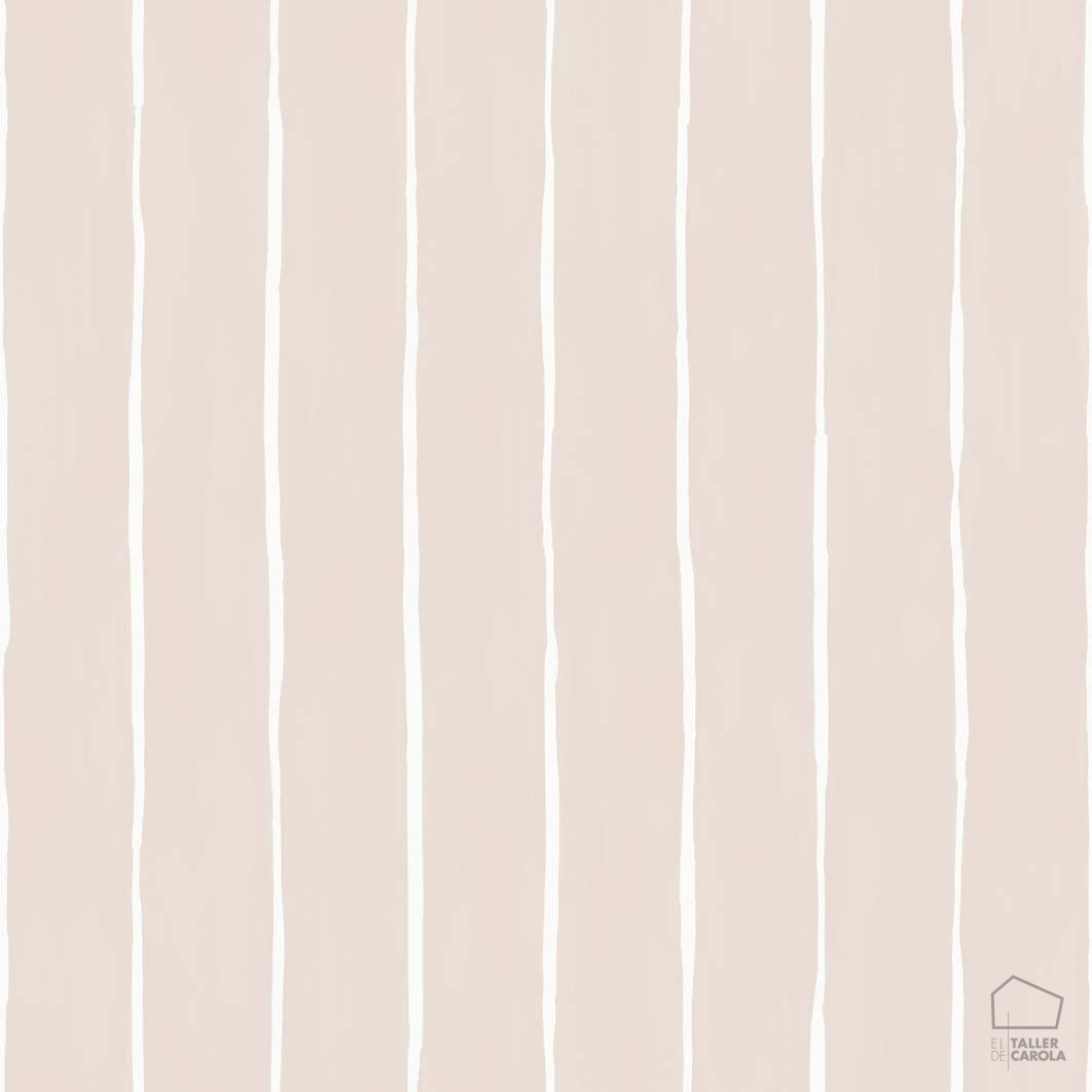 Papel pintado rayas mano alzada rosa el taller de carola - Papel pintado a mano ...