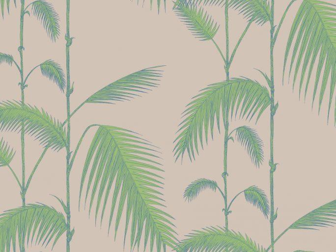 Papel Pintado Palmeras Hojas Verde y Topo 083pal-lea-66-2011