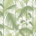 Papel Pintado Hojas Palmera Verde Claro y Blanco 083paljun-95-1001