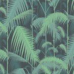 Papel Pintado Hojas Palmeras Verde y Azul 083paljun-95-1003