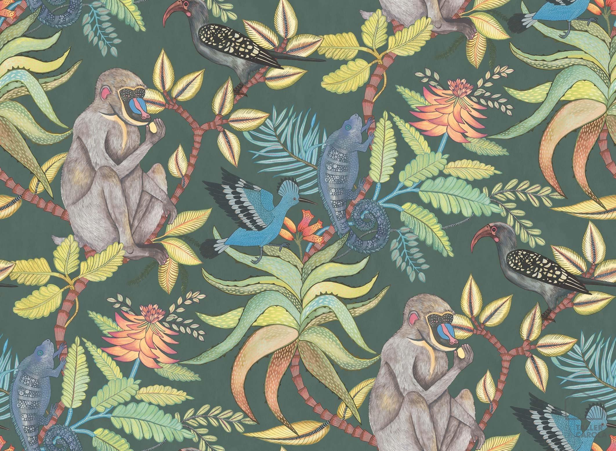 083sav109-1006-papel-pintado-monos-verde
