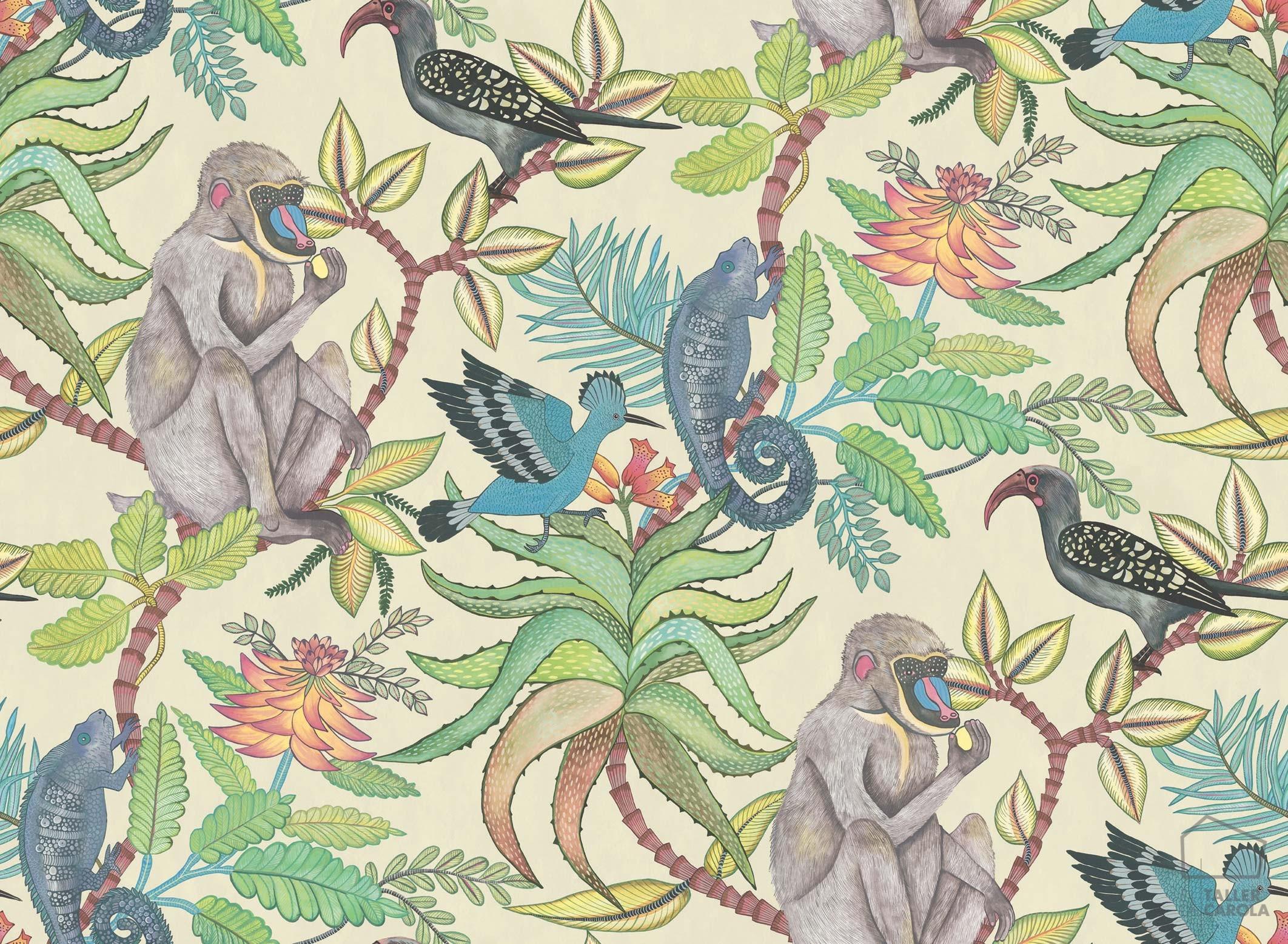083sav109-1007-papel-pintado-monos-tropical