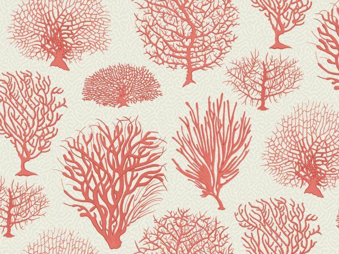 Papel Pintado Corales Rojo