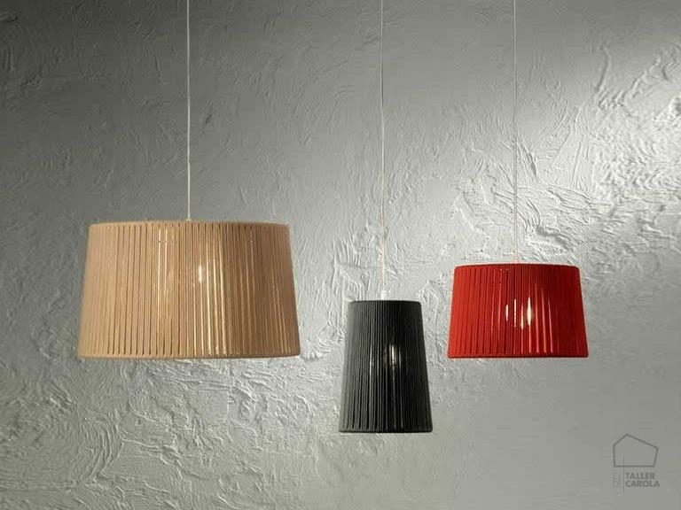 084c24800 Lámpara Colgante Artesanal Cuerda Trenzada